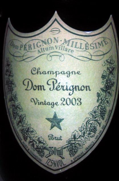 Dom Perignon Moet Chandon 2003