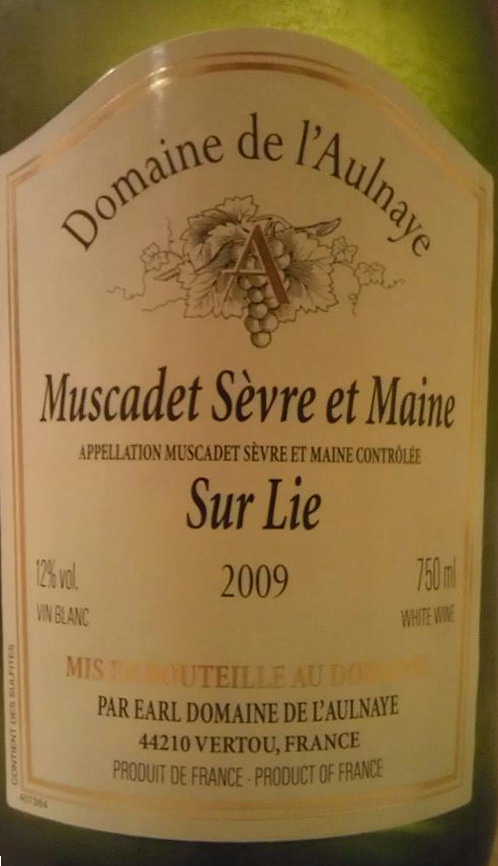 Domaine de l'Aulnaye Muscadet Sevre Maine