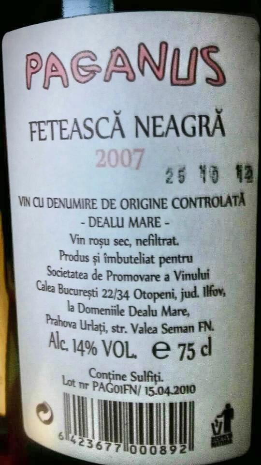 Feteasca Neagra Paganus