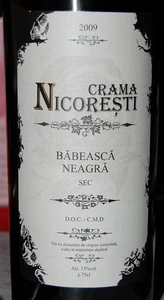 Babeasca Neagra Crama Nicoresti