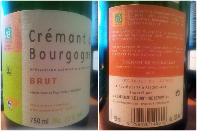 Cremant Bougogne Brut Bio Mega Image