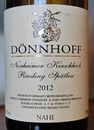 Donnhoff Norheimer Kirschheck Riesling