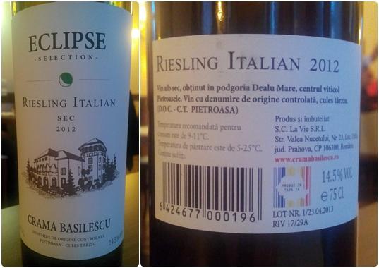 Eclipse Riesling Italian Basilescu