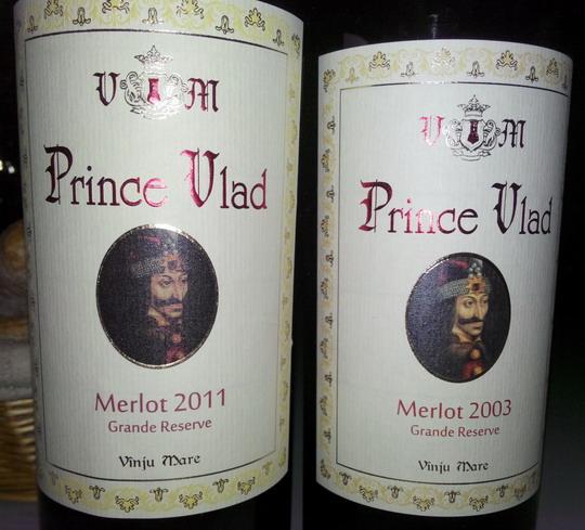 Prince Vlad Merlot Vanju Mare 2011 2003