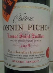 Chateau Bonnin Pichon 2008