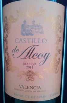 Castillo de Alcoy Reserva 2011