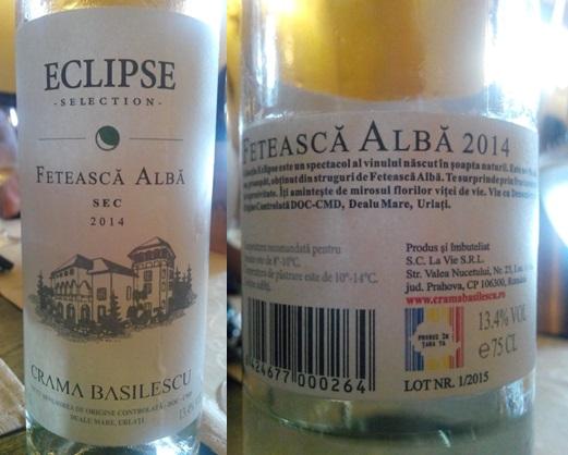 Feteasca Alba Eclipse Basilescu