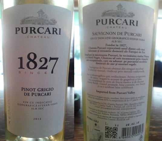 Purcari Pinor Grigio 2014