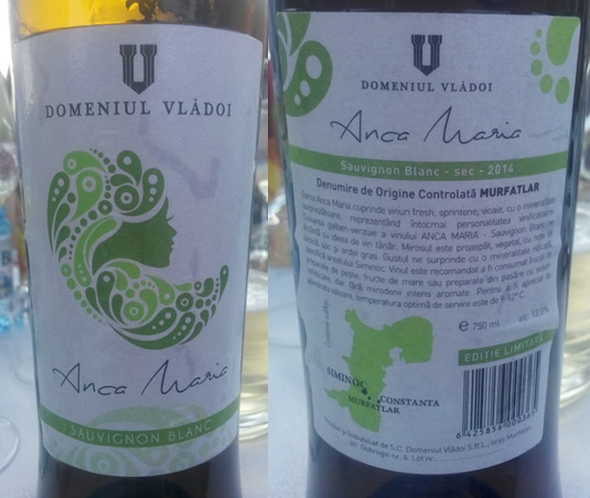 Domeniul Vladoi Ana Maria Sauvignon Blanc 2014