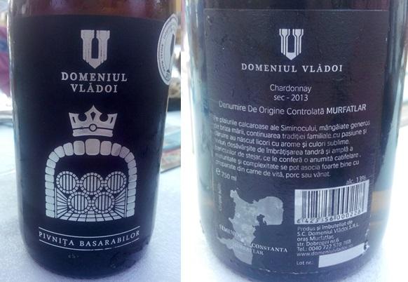Pivnita Basarabilor Vladoi Chardonnay 2013