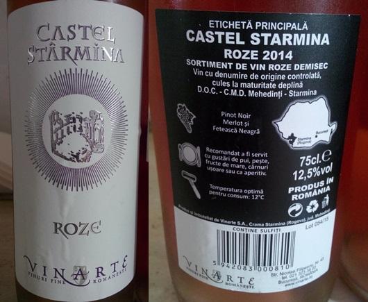 Vinarte Castel Starmina Roze