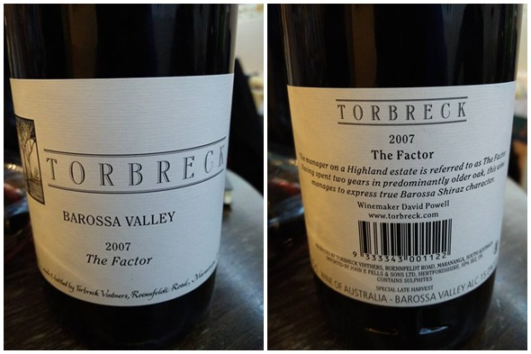 Torbreck Shiraz The Factor 2007